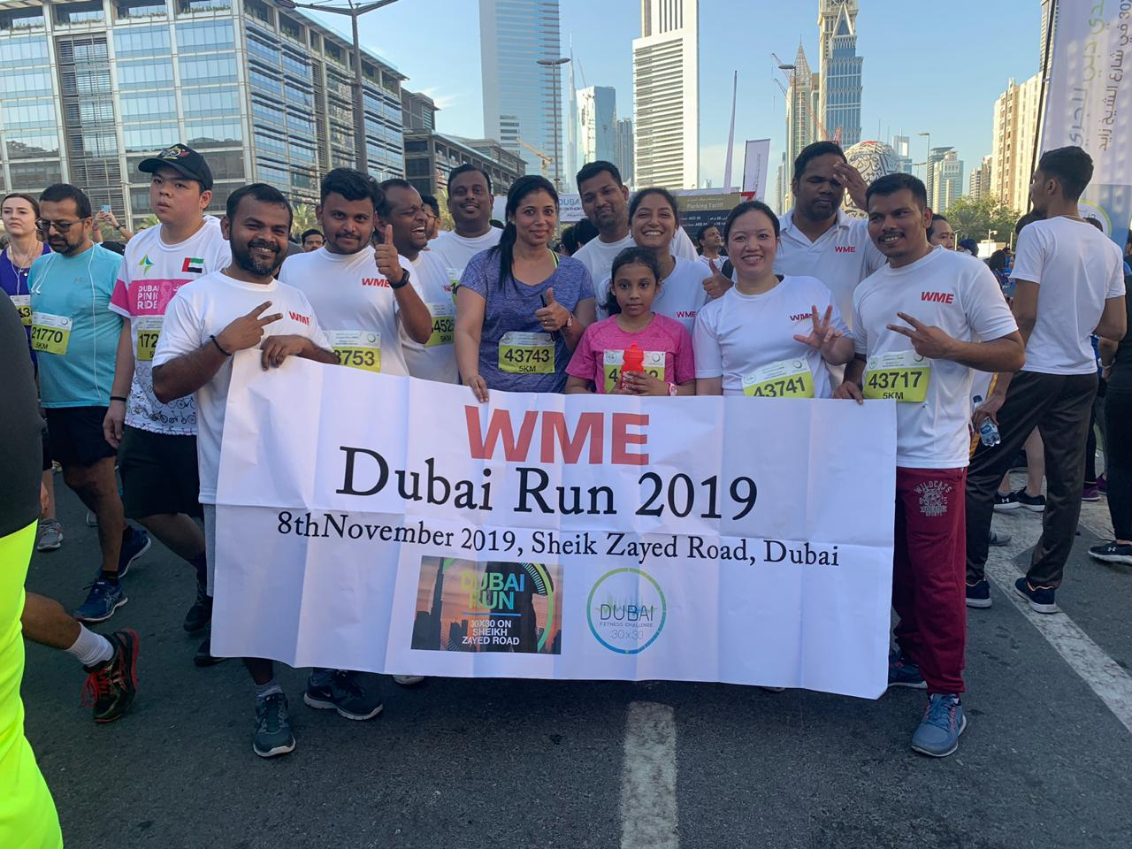 WME runners join the take over one of the world's busiest roads for Dubai Run 30×30