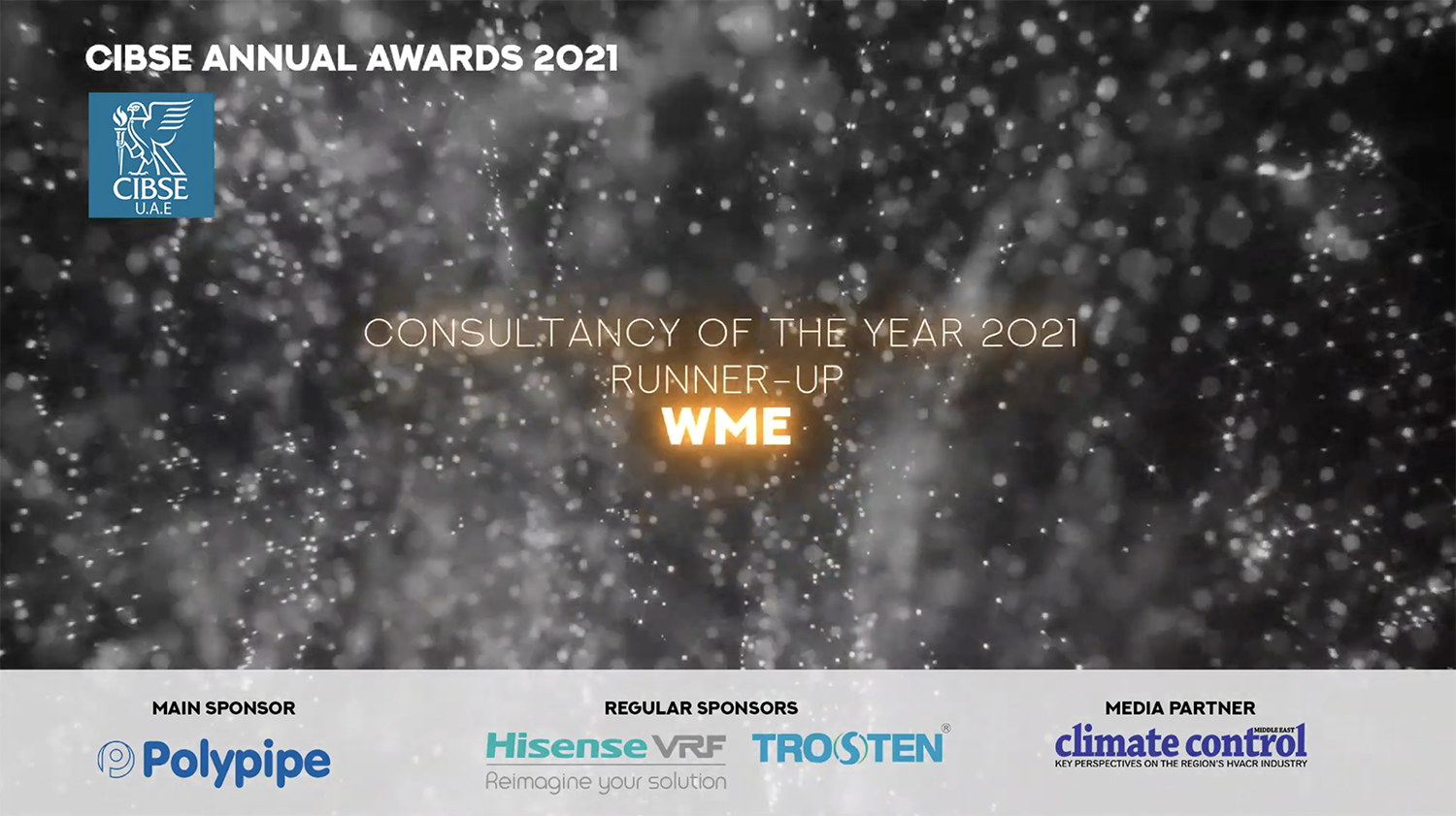 WME Win CIBSE UAE Consultancy of the Year 2021 – Runner Up